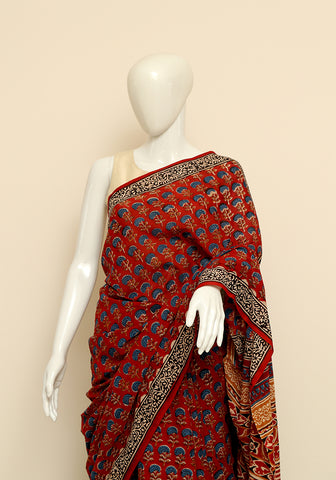 Block Printed Mul Cotton Saree Design 41