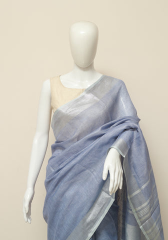 Linen Saree Design 11