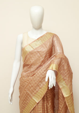 Linen Saree Design 12