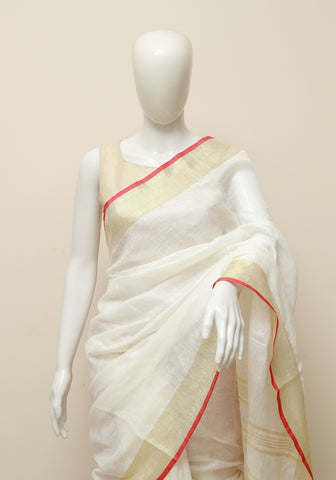 Linen Saree Design 14