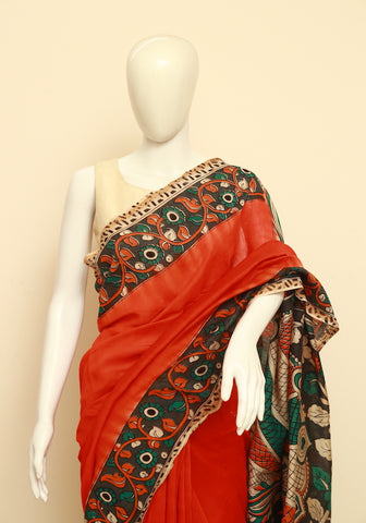 Assam Silk  Kalamkari Saree Design 22