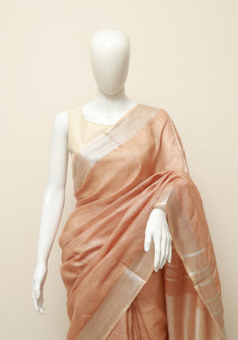 Linen Saree Design 15