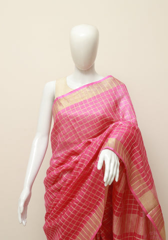 Linen Saree Design 16
