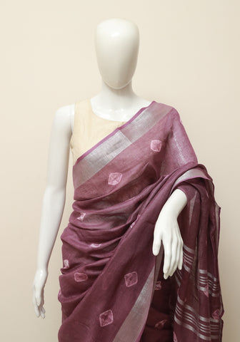 Linen Saree Design 17