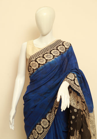 Assam Silk Printed Kalamkari Saree Design 26