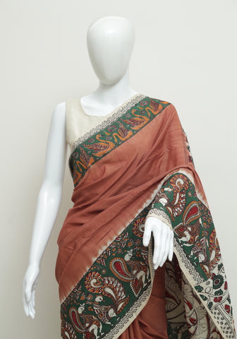 Assam Silk Printed Kalamkari Saree Design 37