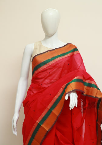 Chettinad Handloom Cotton Saree Design 62