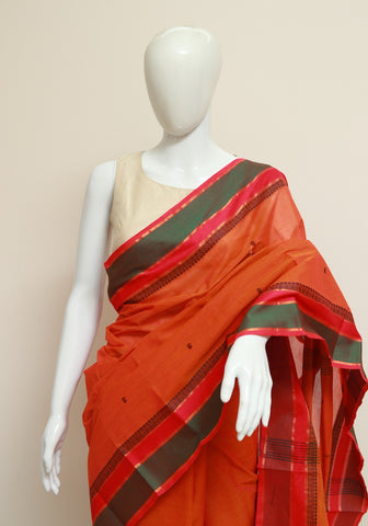 Chettinad Handloom Cotton Saree Design 68
