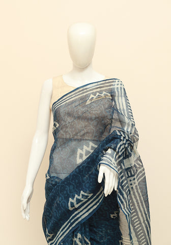 Block Printed Kota Cotton Saree Design 89