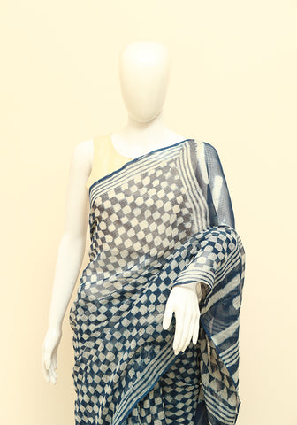 Block Printed Kota Cotton Saree Design 92