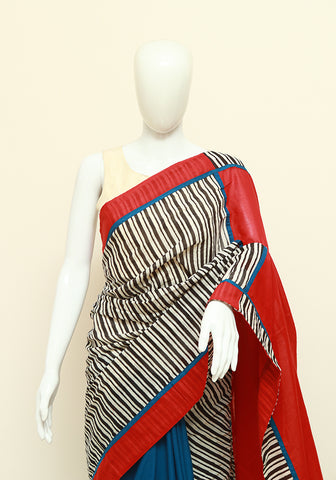 Block Printed Designer Mul Cotton Saree Design 81