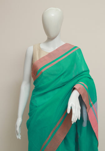 Handloom Cotton Saree Design 12