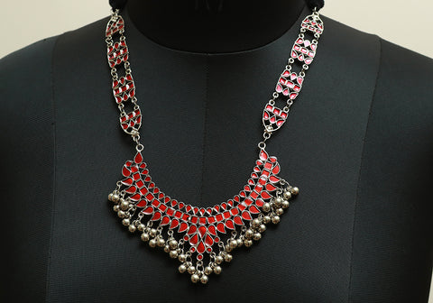 Tribal Afghan Necklace design 35