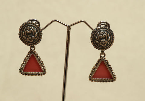 Sterling Silver Earrings with Glass Enamel Design 3