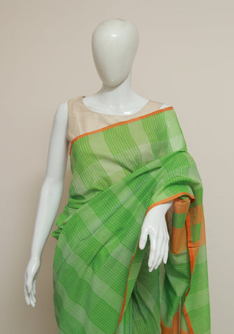 Handloom Cotton Saree Design 23