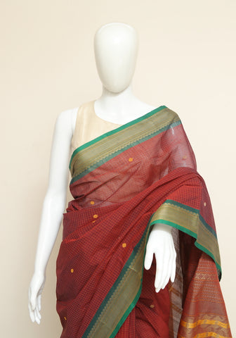 Chettinad Handloom Cotton Saree Design 106