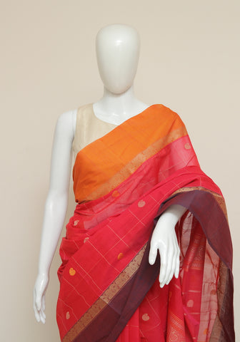 Chettinad Handloom Cotton Saree Design 107