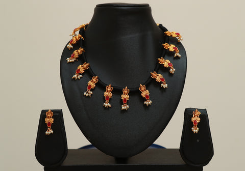 Traditional Temple Jewellery Set Design 19