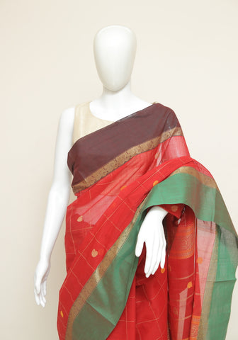 Chettinad Handloom Cotton Saree Design 109