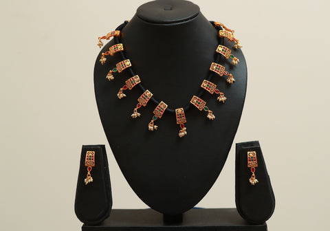 Traditional Temple Jewellery Set Design 22