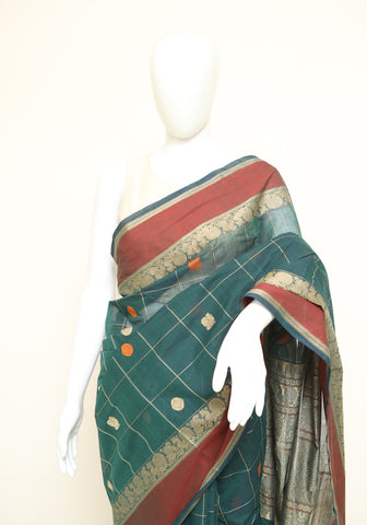 Chettinad Handloom Cotton Saree Design 110
