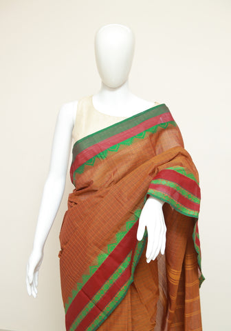Chettinad Handloom Cotton Saree Design 115