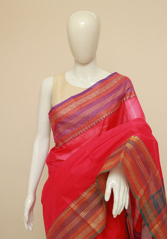 Chettinad Handloom Cotton Saree Design 117