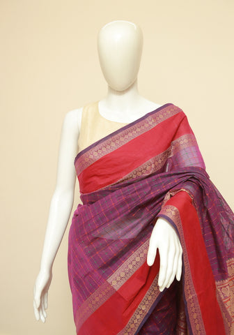 Chettinad Handloom Cotton Saree Design 118