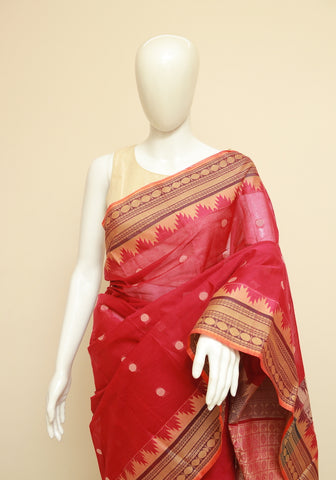 Chettinad Handloom Cotton Saree Design 225
