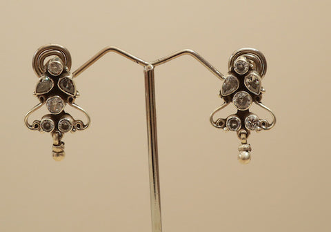Sterling Silver Earrings with Stones Design 32