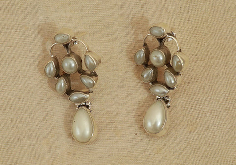 Sterling Silver Earrings with Stones Design 33
