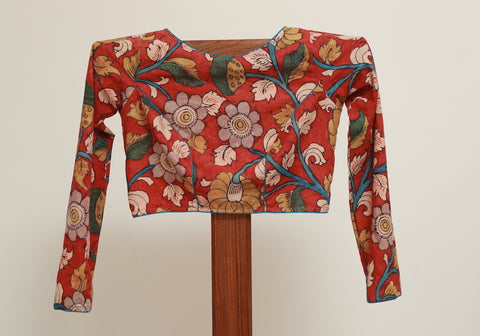 Pen Kalamkari Full Sleeve Blouse