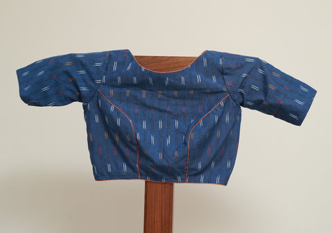 Blue Ikat Blouse