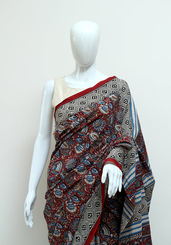 Block Printed Mul Cotton Saree Design 45