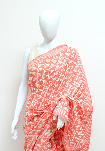 Block Printed Mul Cotton Saree Design 55