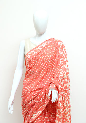 Block Printed Mul Cotton Saree Design 62