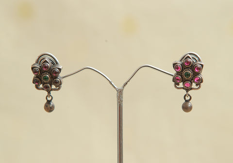 Sterling Silver Earrings  With Stones Design 88