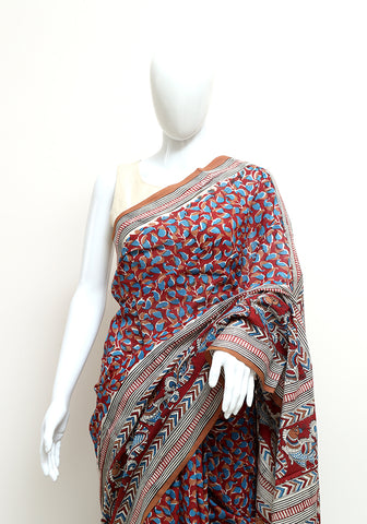Block Printed Mul Cotton Saree Design 50
