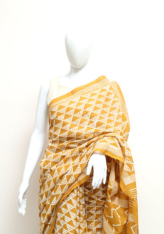 Block Printed Mul Cotton Saree Design 52