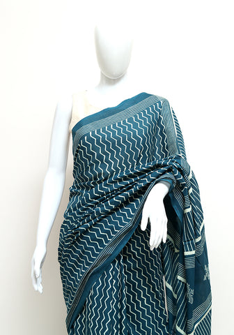 Block Printed Mul Cotton Saree Design 53