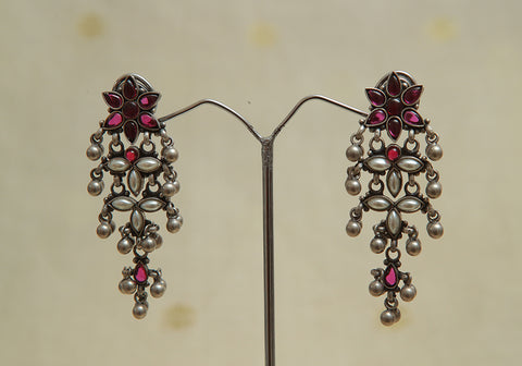 Sterling Silver Earrings  With Stones Design 95