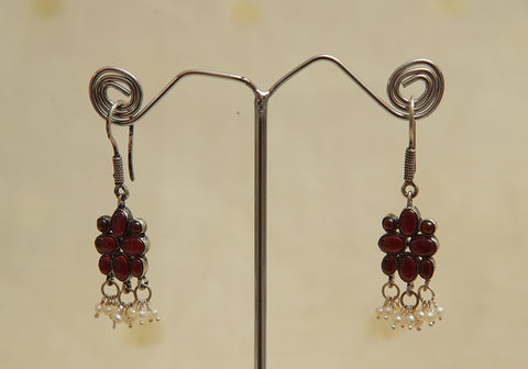 Sterling Silver Earrings  With Stones Design 96