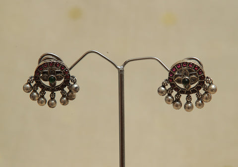 Sterling Silver Earrings  With Stones Design 97