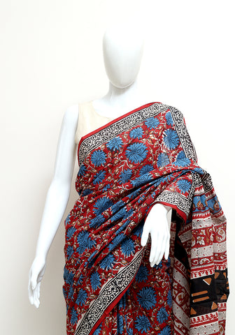 Block Printed Mul Cotton Saree Design 58