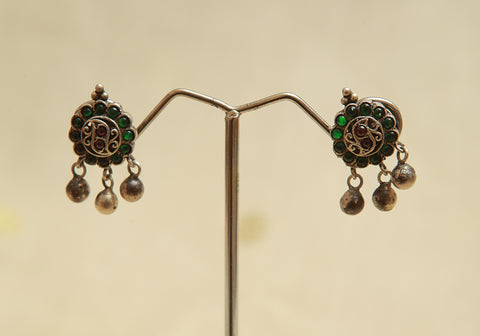 Sterling Silver Earrings  With Stones Design 98