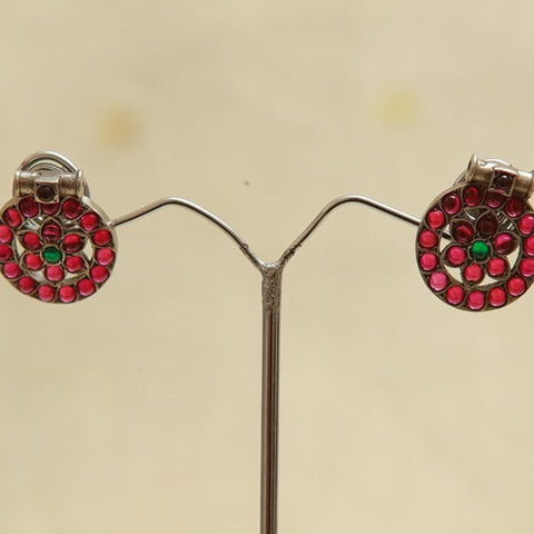 Sterling Silver Earrings  With Stones Design 99