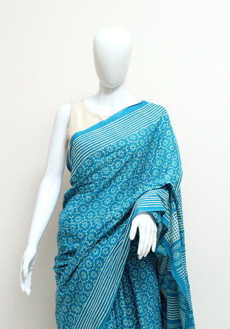 Block Printed Mul Cotton Saree Design 59