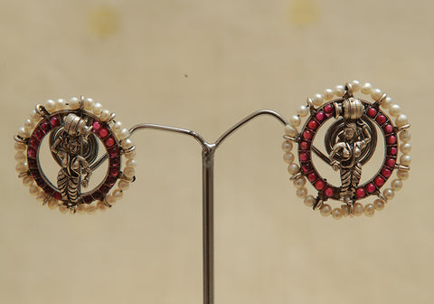 Sterling Silver Earrings  With Stones Design 100