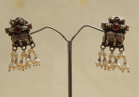 Sterling Silver Earrings  With Stones Design 101