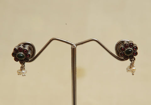 Sterling Silver Earrings  With Stones Design 103